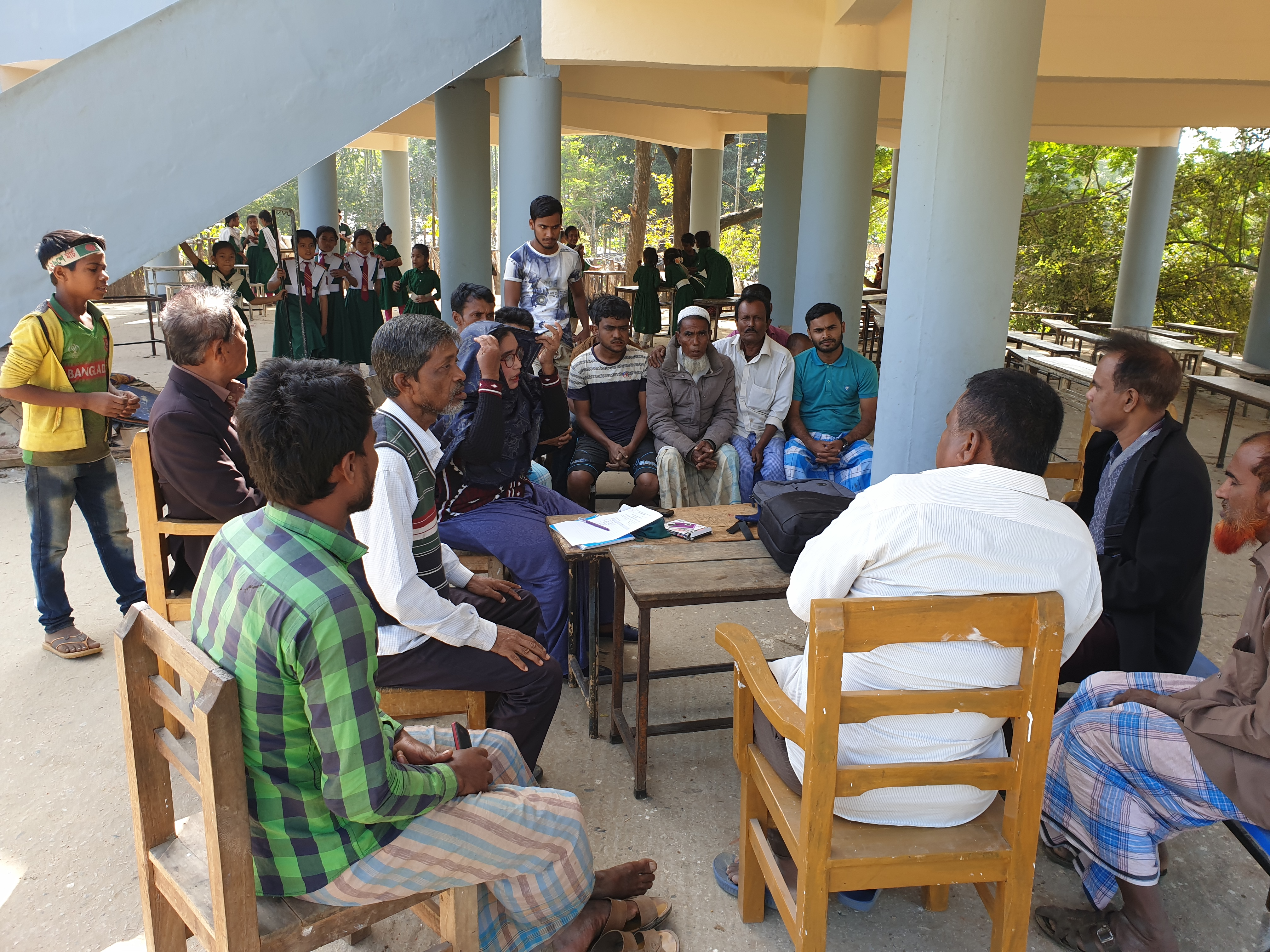 Social and environment consultation meeting during pre-Screening