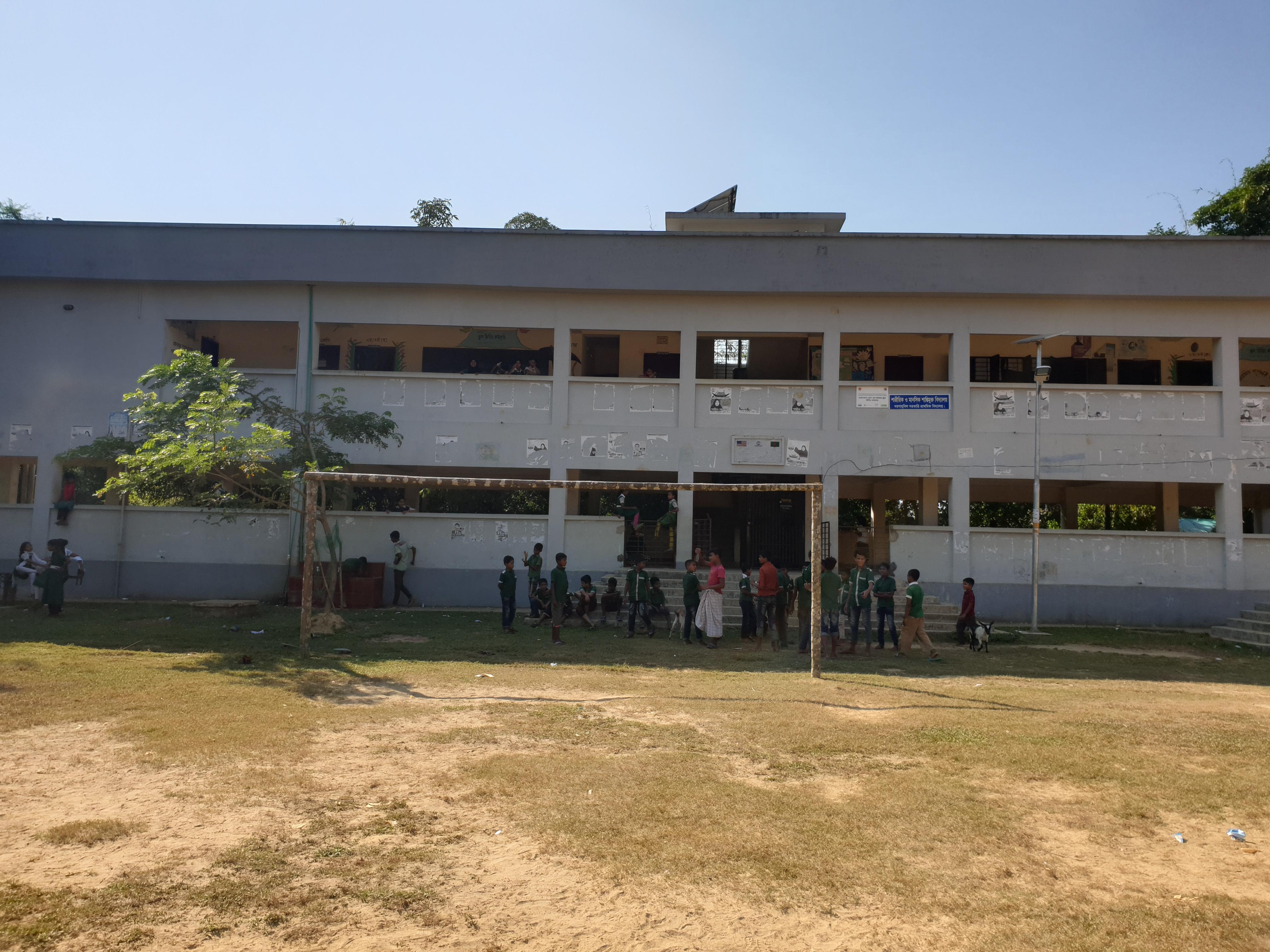 Existing location of school cum disaster shelter building in Dargah Bill