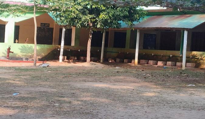 Existing location of school cum disaster shelter building in sonar para