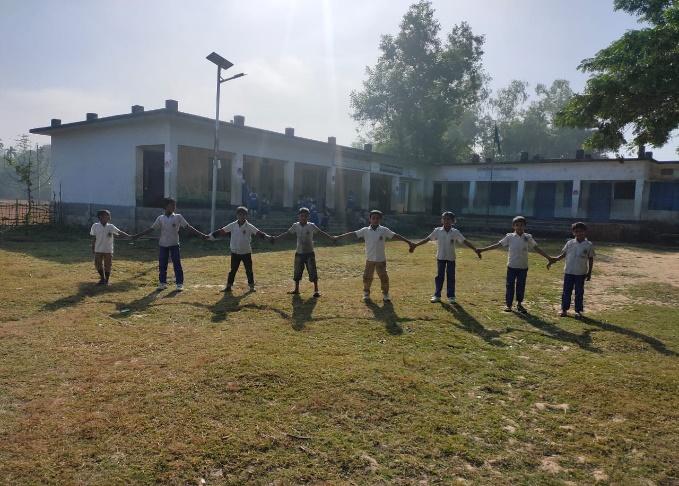 Existing location of school cum disaster shelter building in Dushori Paharika